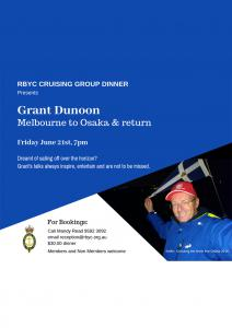 crusing group dinner grant dunoon melbourne osaka