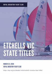 etchells vic state titles 2020 poster